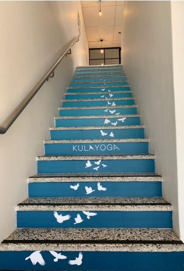 yoga stairs